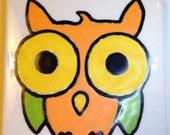 Owl Original Tile Coaster