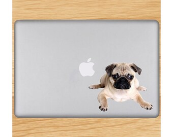 Resting Pug Puppy - Laptop Decal - Available in Varying Sizes