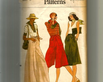 Vogue Misses' Culottes and Skirt Pattern 9109