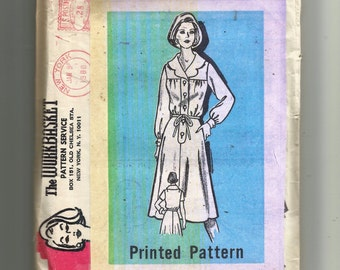 Printed Pattern Dress Pattern 9344