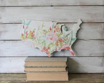 USA Wall Hanging. United States Cutout Shape. Rustic United States Map. USA Map. Housewarming Gift. Home Decor Americana. United States.