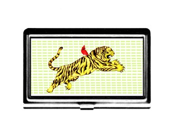 Business Card Case Credit Card Holder Ride a Tigar Red Bird stainless steel metal card case Cardinal