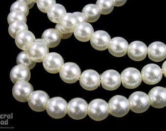 10mm White Luster Glass Pearl #GPD010