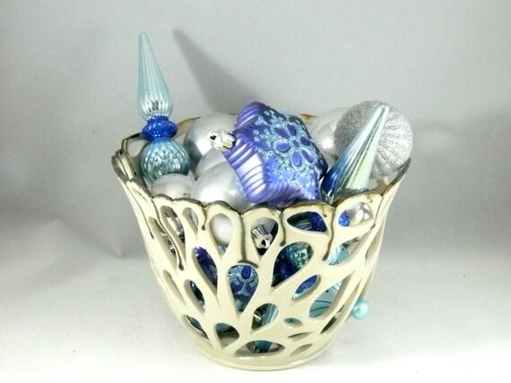 Studio Art Vase - White Art Vessel  - Candleholder - Home decor - Office Decor - Cut Out Vase