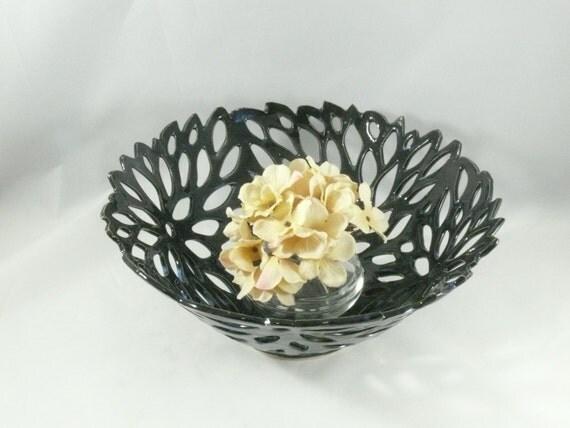 Ceramic Art Bowl in Lotus Flower Design, Ceramic Luminary candle holder, Ceramic Sculpture, Art Object, Vases and Vessels, Office Decor