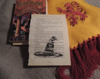 Harry Potter Book Art; Original drawing; Fan Gift; Home Decor