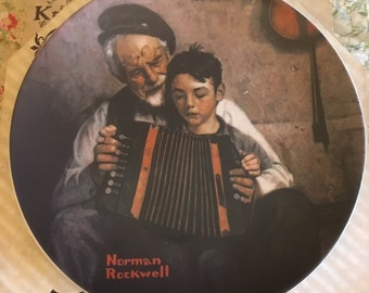 "Edwin Knowles Collector Plate from the Norman Rockell Heritage Collection ""The Music Maker"" CP13"