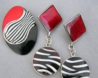 Red and black Zebra Set