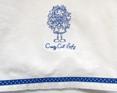 Crazy Cat Lady Dish Towel - Cat Lovers Kitchen Towel - Cat Lovers Gift - Cat Kitchen Decor - Cat Dish Towel - Cat Tea Towel - Fur Baby Gift