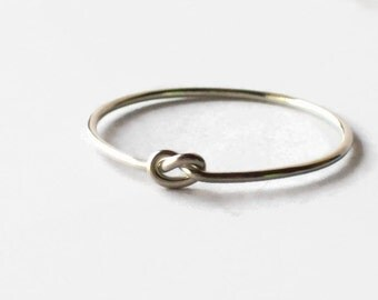 Sterling Silver Promise Ring - Purity Ring - Silver Rings - Knot Ring - Friendship Rings - Silver Knot Ring