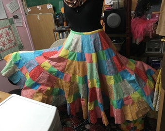 Custom Made Patchwork Twirl Skirt by ccquilter
