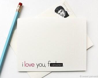 Anniversary Card. Friendship Card. Funny Love Card. Blank Birthday Card. Mature Card. I Love You, F*cker.