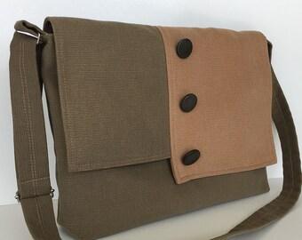Canvas messenger bag, Laptop bag, Men crossbody bag ,Women side bag, School messenger bag Office bag College bag Cross body purse Sling bag