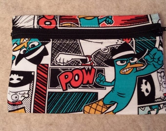Reusable Zippered Snack Bag - Perry the Platypus Phineas and Ferb