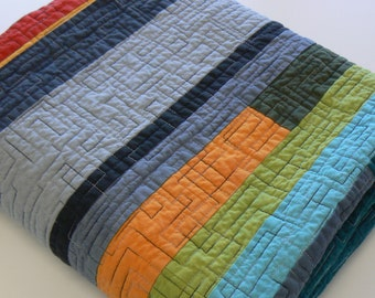 Mid-Century Modern Quilt - Made-to-order