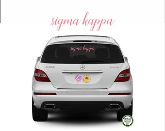 Sigma Kappa sticker - Sigma Kappa Decal - Sigma Kappa -  Greek Letters - Sorority Decal - Laptop Sticker - Car Decal - window sticker