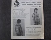 RESERVED for Connie  Children's Cowichan Canadian Sweater Pattern
