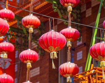 San Francisco Street Photography - Chinatown - Paper Lanterns - California, Travel, Urban, Cityscape