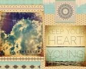 INSTANT DOWNLOAD - Art Journal Digital Collage Sheet - Gratitude