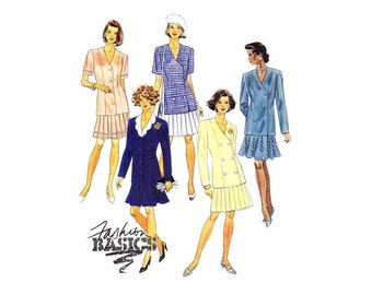 Misses Single or Double Breasted Jacket and Skirt McCalls 6375 Vintage Sewing Pattern Size 20 - 22 - 24 Bust 42 - 44 - 46 UNCUT