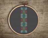 modern geometric cross stitch bookmark pattern ++ retro tribal indian mosaic ++ pdf INsTAnT DOwNLoAD ++ diy hipster ++ handmade design