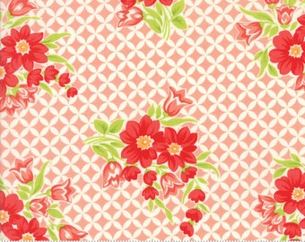 Handmade - Gwendolyn in Coral Pink: sku 55146-13 cotton quilting fabric by Bonnie and Camille for Moda Fabrics - 1 yard