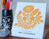 2017 Letterpress Printed Desk Calendar