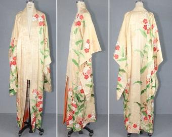 furisode / silk robe / vintage kimono / HONEYDEW MORNING silk kimono