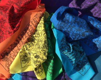 Rainbow Colors Tibetan Wind Horse Prayer Flags