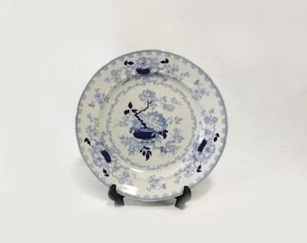 Antique Nankin Jar Ironstone Plate, Blue Transferware Dish