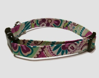 Disney Mickey Mouse Inspired by Vera Bradley's Plums Up Dog Collar XS S M L