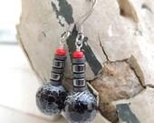 Amelia Handmade Agate and Hematite Earrings