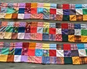 Vintage 1960's or 70's Handmade Patchwork Curtain Set (Reduced!)