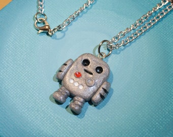 Handmade Robot Pendant Necklace