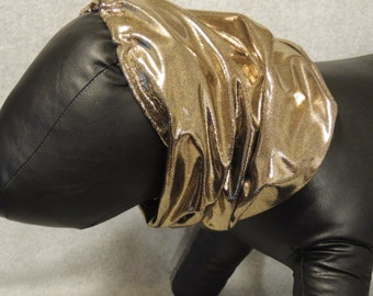 Large Dog Show Dog Snood Gold