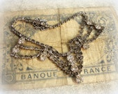 rhinestone liquor label one of a kind vintage assemblage decanter label . bottle necklace