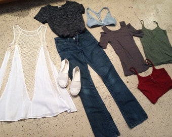 FREE SHIPPING! Sale LOT Shoes, Blouses, Dress & Jeans + Jewelry