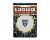 The Beholder Badge Club : Buzz Off - Enamel Badge