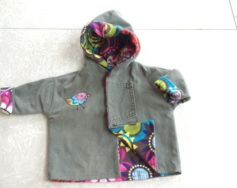 baby jacket created with upcycled materials