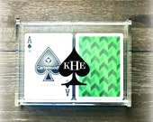 Acrylic Monogrammed Deck of Cards Storage Box - Playing Cards Storage Box- Acrylic Playing Cards Box - Personalized Playing Cards Box -