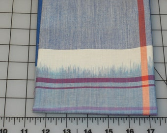Anna Maria Horner Loominous Big Love Primary woven cotton blue orange white plaid fabric shereesalchemy