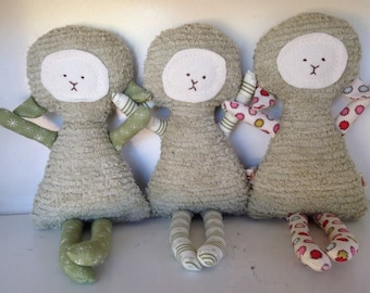 Lamb Toy Soft Doll, Plush, Natural Eco Friendly