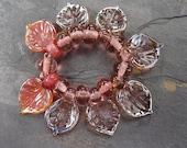 Leaves - SRA handmade glass lampwork beads - Lori&Kim