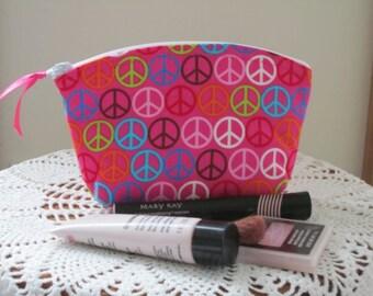 Essential Oils Clutch Cosmetic Bag  Purse Retro Peace