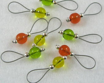 Tropical Fruit Stitch Markers - Set of 9 - US 5 - Item No. 793