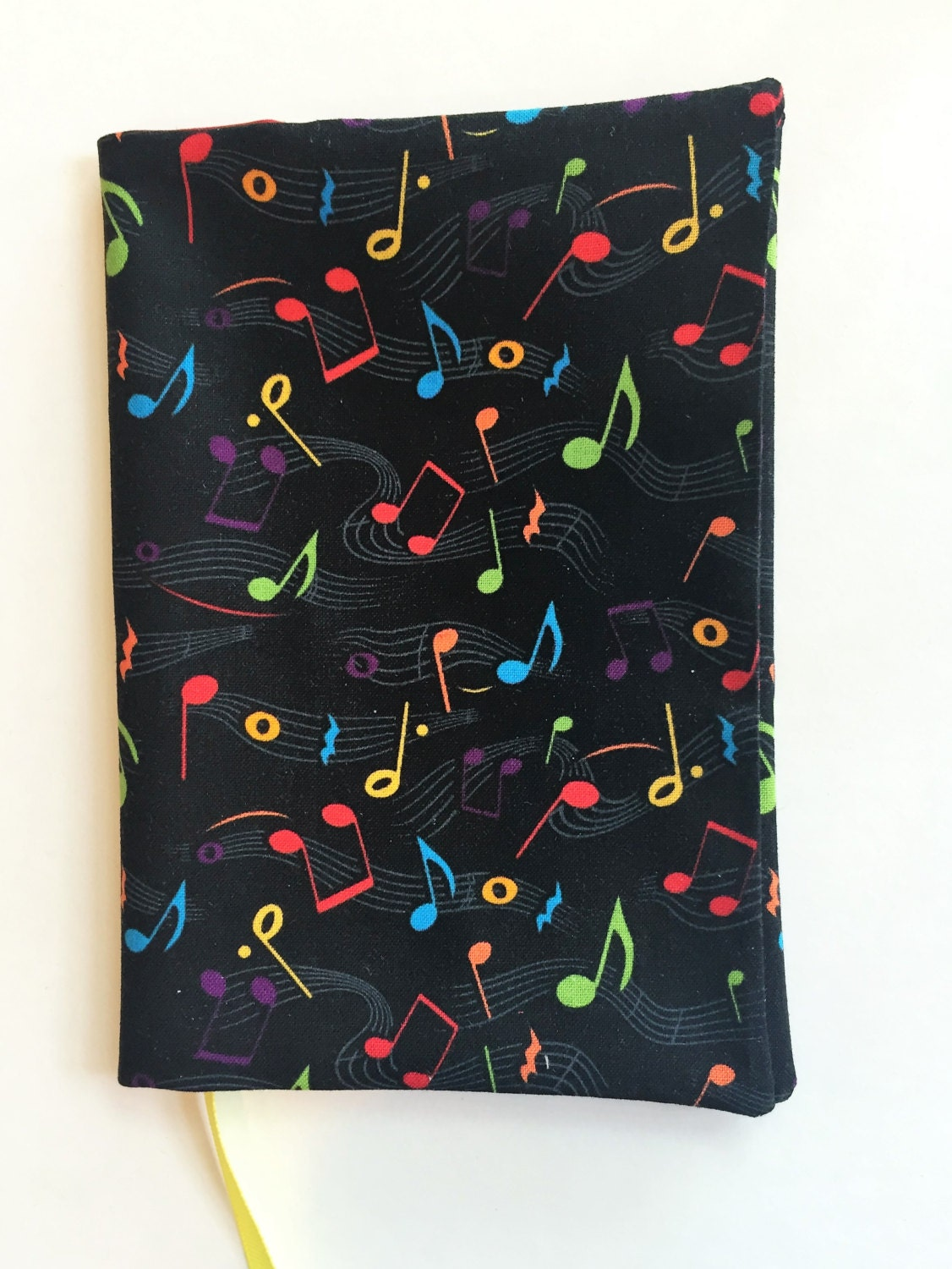 Paperback Book Cover Material : Fabric book cover paperback music notes print