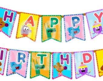 Hey Duggee - Digital Happy Birthday Flag banner - Other languages welcome!!