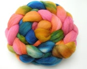 Rainbow Vista - Hand Dyed Roving - Spinning Fiber - BFL - Falkland - Shetland - Targhee- Cheviot - Dyed to Order