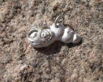 Handmade OOAK PMC Artisan Charm-Cindy the Caterpillar