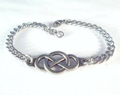 Infinity Bracelet, Anklet or Boot Chains Thick Curb 316L Stainless Steel Chain Silver Double Infinity